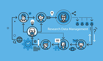 Data Research management illustration